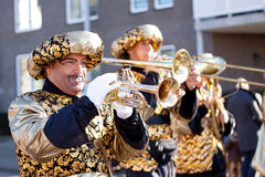Men playing trumpet Stock Image