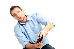 Men playing video games Royalty Free Stock Image