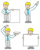 Men pointing out. Vector illustration of several men pointing out Stock Images
