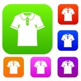 Men polo shirt set color collection Stock Photography