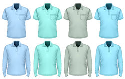 Men polo-shirt. Shades of blue. Stock Image