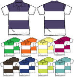 Men polo shirts outline Stock Images