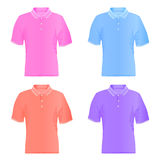 Men polo t-shirts. Vector illustrations. Stock Images
