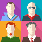 Men Portraits Vector icon set Royalty Free Stock Photos