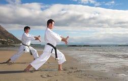 Men practicing Karate Royalty Free Stock Image