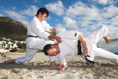 Men practicing Karate Stock Photos