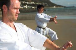 Men practicing Karate Stock Image