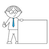 Men presenting a blank paper Royalty Free Stock Image