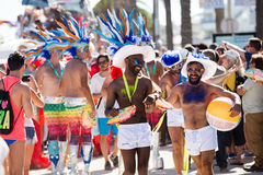 Men on pride parade in sitges Royalty Free Stock Image