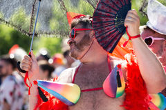 Men on pride parade in sitges Stock Images
