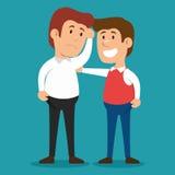 Men problem solving psychology design Stock Photos