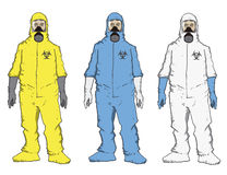 Men in protective  suit Stock Photos