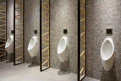 Men public restroom. Luxury interior of men public restroom Stock Photos