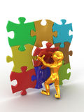 Men with puzzle Royalty Free Stock Photography
