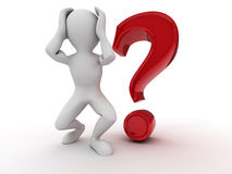 Men with question Royalty Free Stock Images
