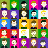 25 men Raster 4  4 4 Stock Photos