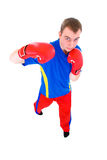 Men in red gloves  boxing Stock Image