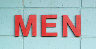 Men in red letters Stock Images