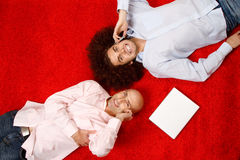 Men relaxing at work Royalty Free Stock Photo