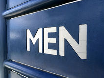 Men rest room sign Royalty Free Stock Photo