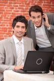 Men in a restaurant Stock Photos
