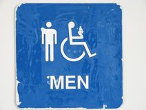 Men restroom sign Royalty Free Stock Photos