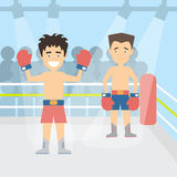 Men at the ring. Royalty Free Stock Photo
