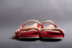 Men rope shoes Stock Photo