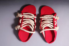 Men rope shoes Royalty Free Stock Images