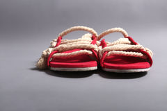 Men rope shoes Stock Photography