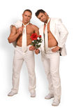 Men and a rose Royalty Free Stock Images