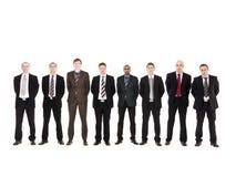 Men in a row Stock Photo