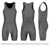 Men rowing suit. Royalty Free Stock Photo