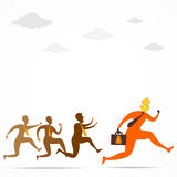 Men run for money concept design Stock Photography