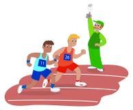 Men running in race vector Stock Images