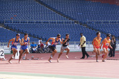 Men's 100 Meters for Blind Persons Stock Photography