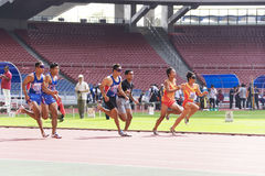 Men's 100 Meters for Blind Persons Royalty Free Stock Photo