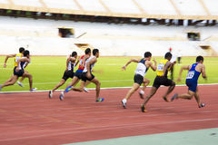 Men's 100 Meters Sprint (Blurred) Stock Photos