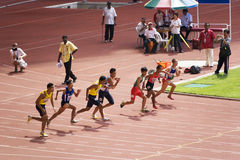 Men's 100 Meters for Visually Impaired Persons Royalty Free Stock Photos