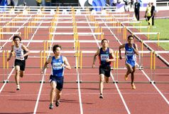 Men's 110 Meters Hurdles Royalty Free Stock Image