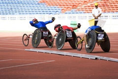 Men's 1500 Meters Wheelchair Race Royalty Free Stock Photo