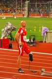 Men's 400m T44. Linhart M. (AUT) takes part in the final of the Men's 400m T44 at the Beijing 2008 Paralympic Games Tuesday Sept. 16, 2008 in Beijing Stock Images