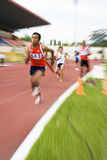 Men's 4x400 Meters (Blurred) Royalty Free Stock Photos