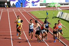 Men's 4x400 Meters Race Stock Photography