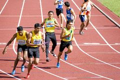 Men's 4x400 Meters Race Stock Image