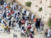 Men' s-Abschnitt der Klagemauer in Jerusalem, Israel stockfotos