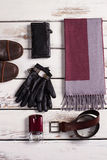 Men's accessories. Men's clothing. Shop of stylish clothes Royalty Free Stock Image