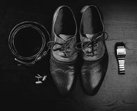 Men`s accessories Royalty Free Stock Image