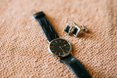 Men`s Accessories : Men`s butterfly, shoes, watches. Men`s Accessories : Men`s butterfly, Men`s shoes, men`s watches Royalty Free Stock Photo