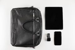 Accessories for work and business on a white background stock images